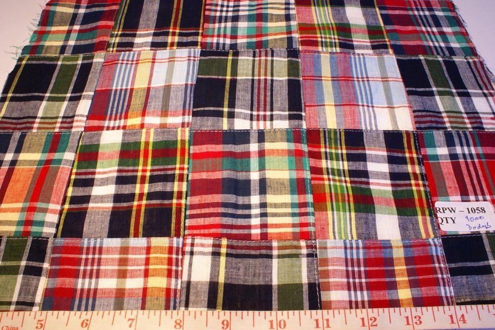 Patchwork madras fabric