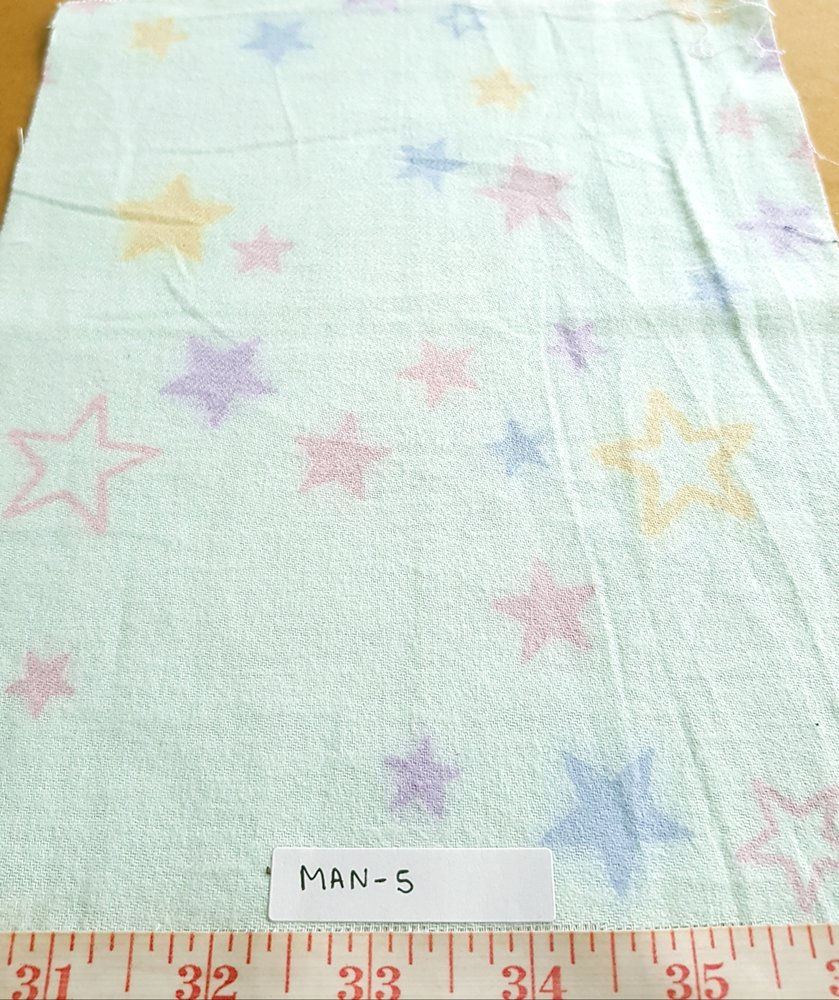 Cotton print fabric in flannel feel, theme print fabric with stars print