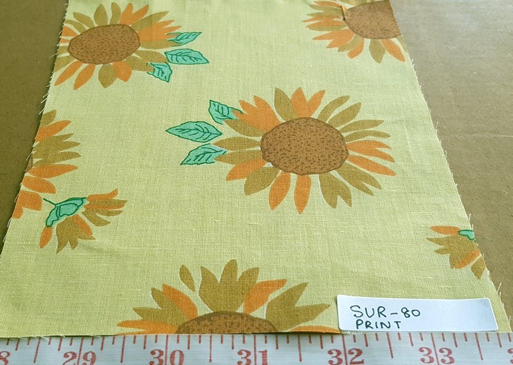 Cotton print fabric - sunflower theme fabric