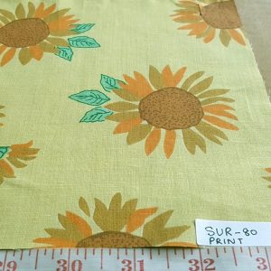 Cotton print fabric - sunflower theme fabric