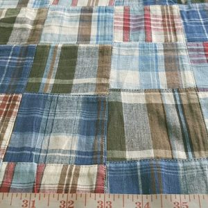 patchwork madras fabric made of indian cotton madras