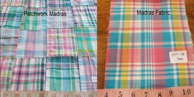 Madras plaid & Patchwork madras fabric