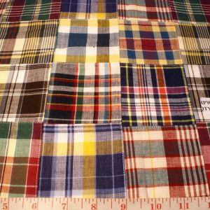 Patchwork Madras Fabric in preppy colors for men & boys apparel
