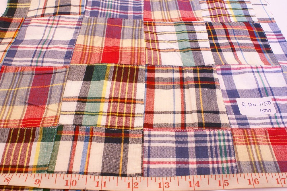 Preppy Patch Madras Fabric for sewing preppy clothing, preppy craft projects, preppy accessories, handmade clothing, madras bedding or children's decor.Preppy Patch Madras Fabric for sewing preppy clothing, preppy craft projects, preppy accessories, handmade clothing, madras bedding or children's decor.