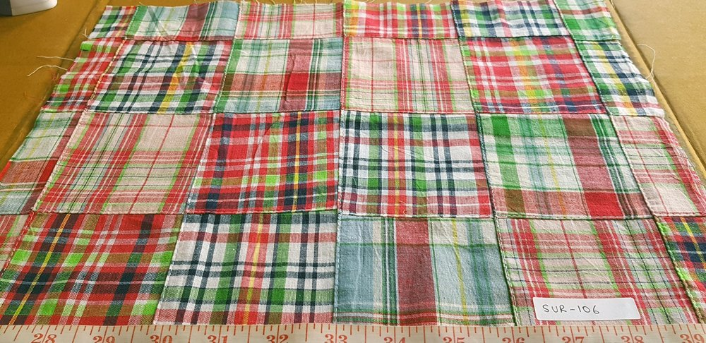 Patchwork Madras Fabric for preppy clothing and style
