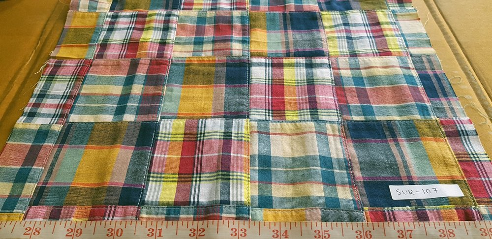 Patchwork Plaid Fabric for shirts and shorts