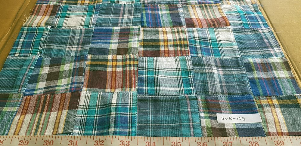 Patch Madras Fabric for clothing and handbags