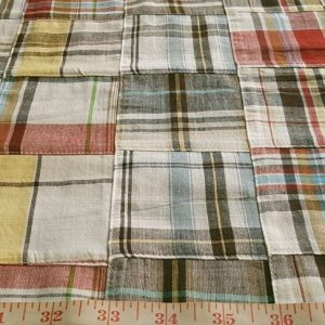 Patchwork Madras Fabric made for people clothing and pet clothing