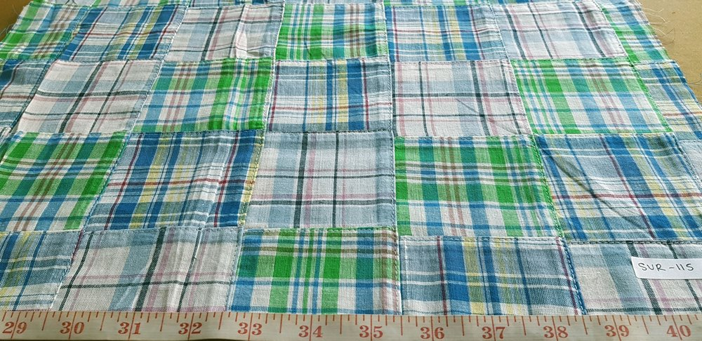 Patch Plaid Madras Fabric for sewing preppy clothing, preppy craft projects, preppy accessories, handmade clothing