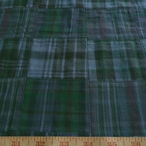 Patchwork madras in menswear color for coats, shirts, pants and ties