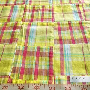 Patch Plaid Fabric for children's garments