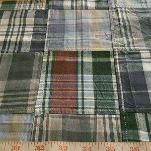 Patchwork Madras Fabric in vintage colors for classic clothing