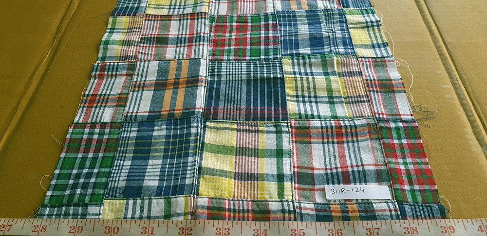 Patch Plaid Fabric for sewing preppy clothing, preppy craft projects, preppy accessories, handmade clothing, madras bedding or children's decor.
