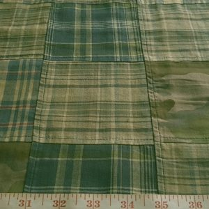 Patchwork Madras Camouflage fabric for menswear, vintage and classic clothing