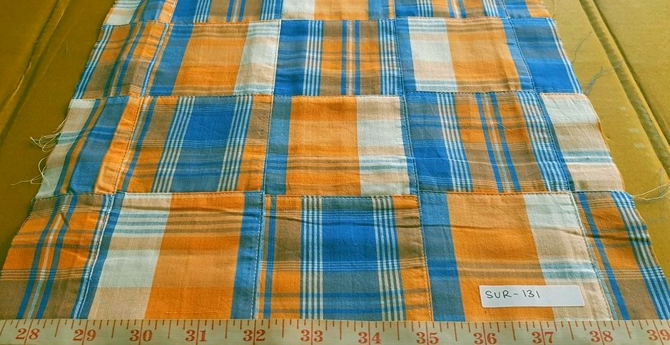 Vintage madras patchwork for menswear, classic children's clothing, sportcoats, pants, shorts, plaid skirts and accessories.