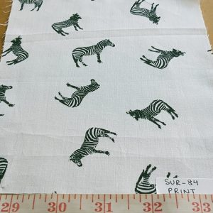 Zebras - Animal theme print fabric with zebras for children's apparel