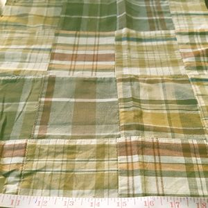 Madras Patchwork Fabric in preppy colors for vintage clothing, like men's shirts, madras sport coats, jackets, classic clothing and vintage apparel.
