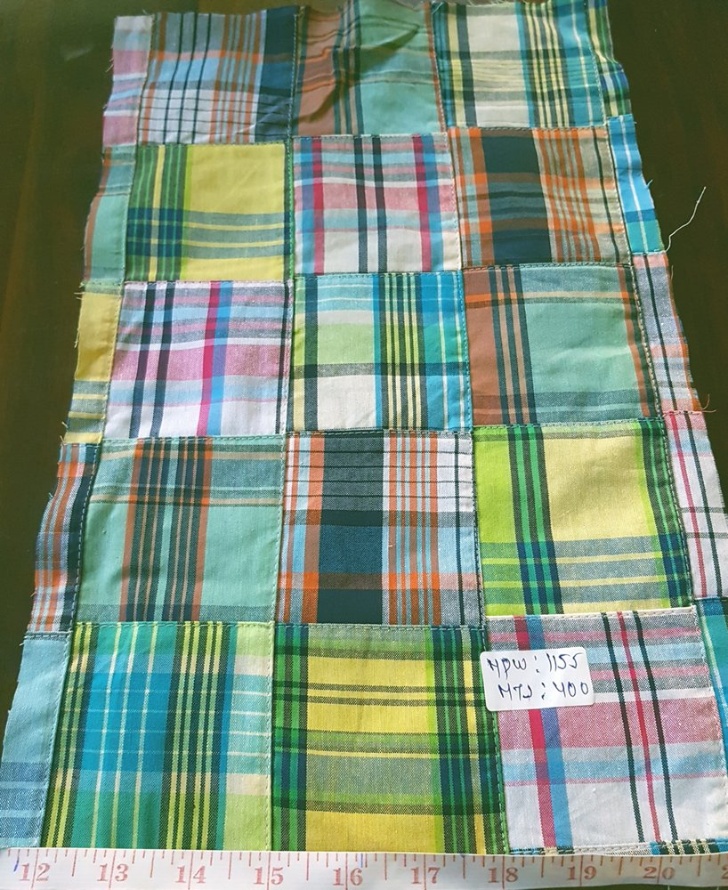 Patch Plaid Fabric for sewing men's jackets, coats, ties and bowties, and boy's shorts, shirts, and handmade accessories like handbags, headbands
