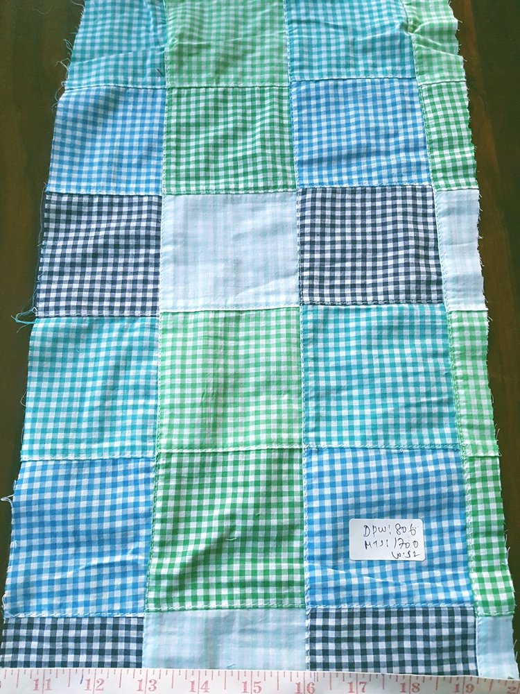 Patchwork Check Fabric for handmade handbags, headbands, ties, bowties, pet clothing, menswear, children's apparel and sewing needs