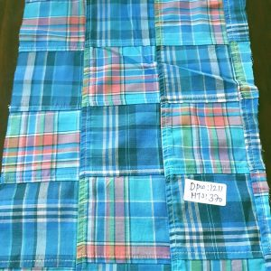 Patchwork Plaid Madras Fabric with plaids sewn for preppy menswear, patchwork coats, patchwork shirts, madras shorts, plaid skirts, ties and bowties