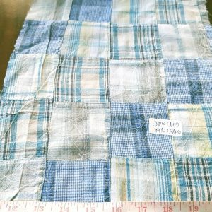 Vintage Madras Patchwork Fabric with plaids in Wrinkle Finish, perfect for vintage shirts, vintage skirts, vintage plaid clothing and classic clothing