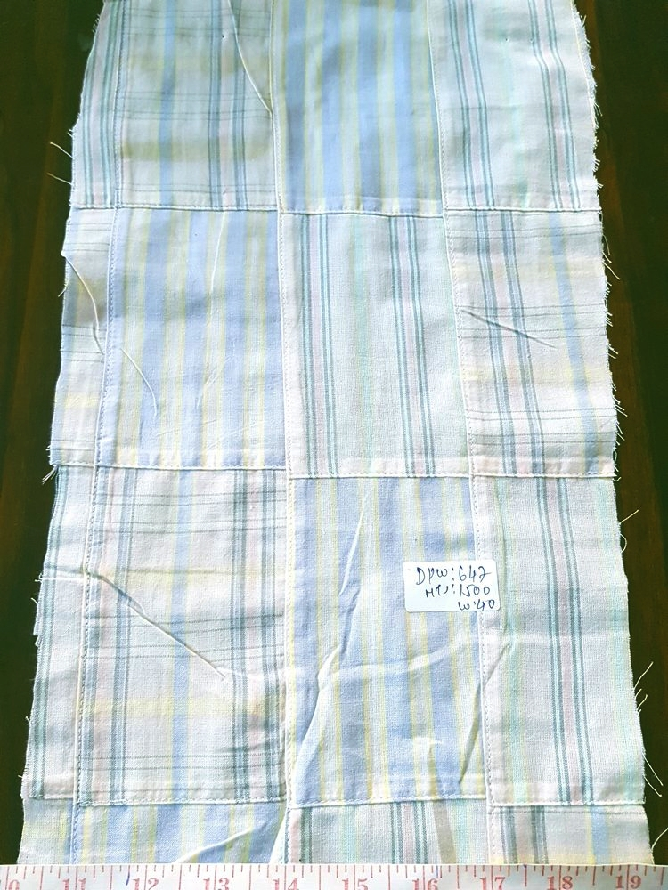 Patchwork Plaid Fabric in pastel colors for children's clothing, boys shorts, handmade clothing, etsy handmade clothing, plaid coats and skirts.