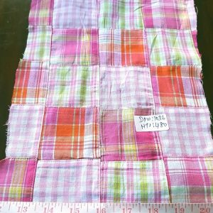Patchwork Check Fabric or patchwork plaid, for sewing children's apparel, handmade boys clothing, check clothing and accessories.
