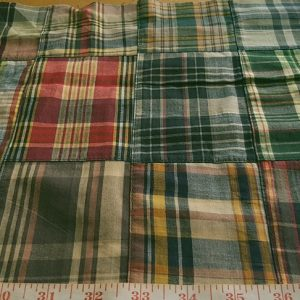 Vintage Madras Patchwork for menswear, classic children's clothing, sportcoats, pants, shorts and plaid clothing for pets such as dog clothing.