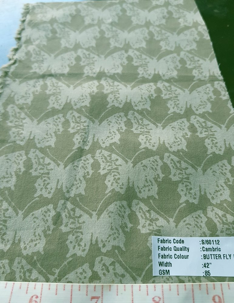 Vegetable Natural Dyed Organic Fabric Butterfly Print, printed with vegetable & plant colors, for eco friendly clothing and apparel, like organic clothing.