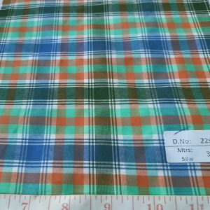 Check Fabric sometimes also known as madras plaids are a fabric made of cotton in a criss cross of lines of various colors, perfect for shirting and ties.