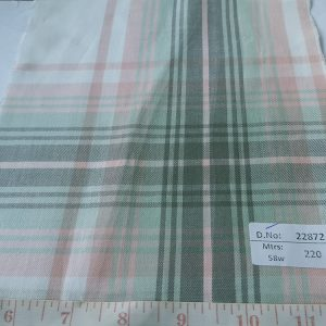 Twill Plaid Fabric made of cotton yarns woven in a plaid pattern, for men's shirts, jackets, ties, bowties and plaid clothing. Also known as check fabrics.