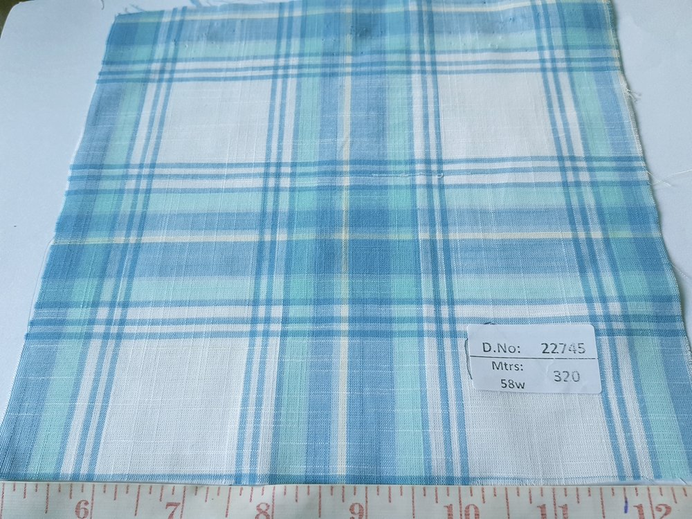 Preppy Fabric - Plaid cotton, made in India, also known as madras plaid, and used for preppy shirts, preppy children's clothing and beach wear.