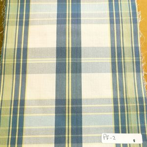 Plaid Fabric made of cotton yarns woven in a plaid pattern, for men's shirts, jackets, ties, bowties and plaid clothing. Also known as check fabrics.