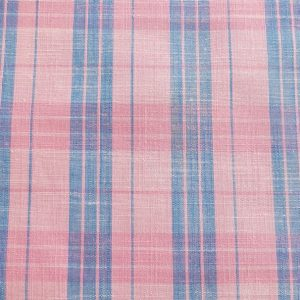 Plaid Fabric made of cotton woven in a plaid pattern, for madras shirts, madras jackets, ties, bowties & pet clothing. Also known as check fabrics.