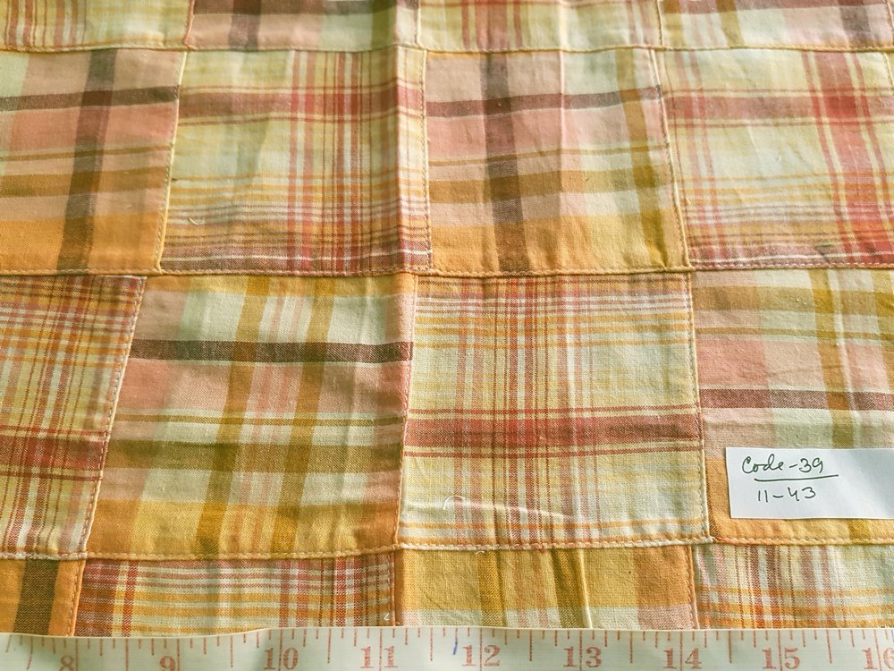 Patchwork Plaid Fabric for sewing men's jackets, coats, ties and bowties, and boy's shorts, shirts, and handmade accessories like handbags, headbands.