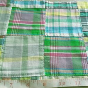 Patchwork Plaid in Preppy madras cotton patches, perfect for Ivy League prep style, preppy menswear, womenswear and classic children's clothing.