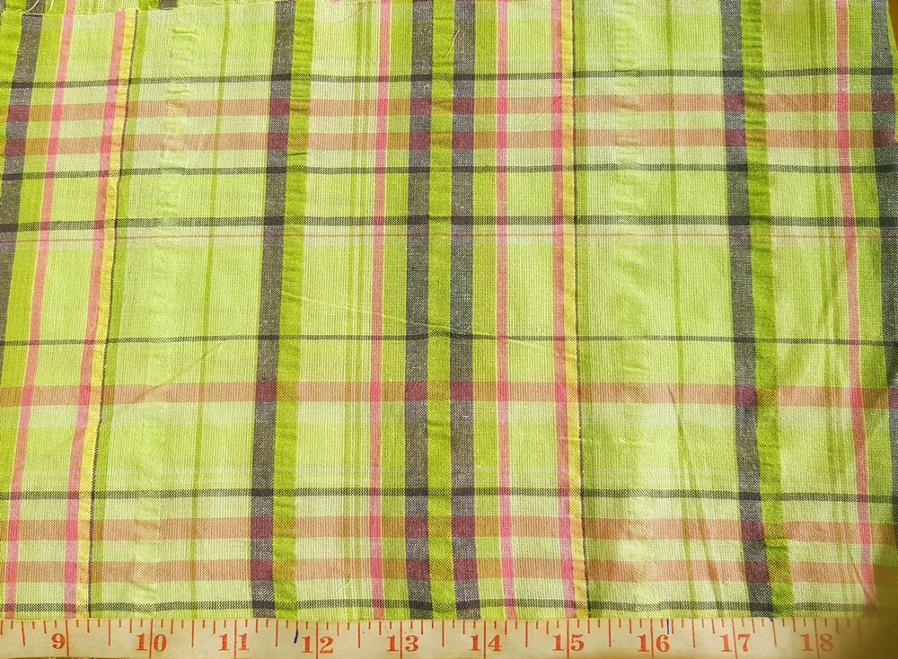 Seersucker Plaid Fabric or cotton madras Seersucker fabric, for mens shirts, preppy clothing, seersucker coats, children's clothing and southern clothing.