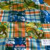 Patchwork Printed Fabric in preppy prints, sewn into patchworks, for children's clothing, women's dresses, patchwork shorts, and preppy pet clothing.