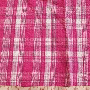 Seersucker Madras Fabric - Seersucker Plaid in a puckered weave for preppy clothing, seersucker bowties and children's clothing.