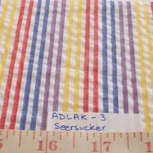 Seersucker Stripe Fabric - cotton seersucker for summer clothing, men's suits, seersucker shirts, seersucker children's clothing.