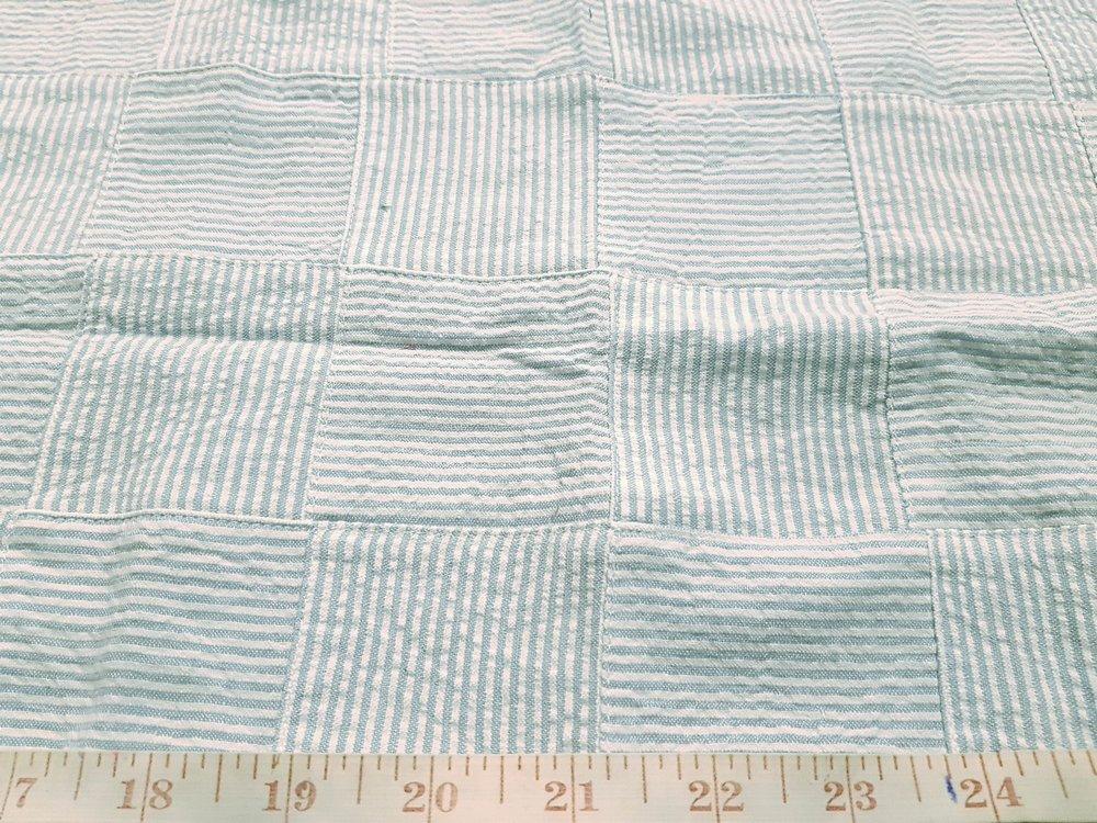 Seersucker Patchwork Fabric - Seersucker stripe cotton for summer clothing, men's suits, seersucker shirts, seersucker children's clothing.