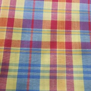 Preppy Plaid Fabric - Fabric made of cotton, woven in a plain weave for preppy clothing, preppy sewing and crafts and perfect for handmade things.