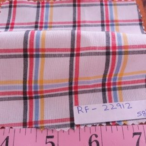 Tattersall Plaid or Tattersall Check Fabric for men's shirts, boy's clothing, classic children's clothing, and southern clothing.