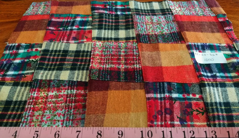 Flannel Patchwork fabric in plaid and prints, for flannel dresses, skirts, flannel shirts and jackets and flannel pet clothing.