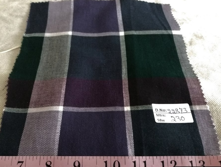 Twill Madras Fabric, twill plaid or flannel plaid for pet clothing, like dog bandanas, dog collars, dog bowties and vintage menswear.