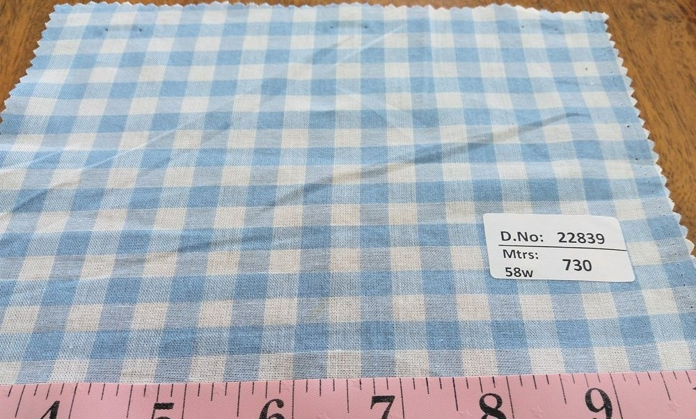 Gingham Check fabric for children's clothing, girl's dresses, gingham skirts and dresses, men's shirts, southern clothing and bags.