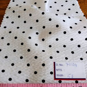 Polka dot Print Fabric for dresses, skirts, children's clothing, quilting and sewing printed clothing in theme printed style.