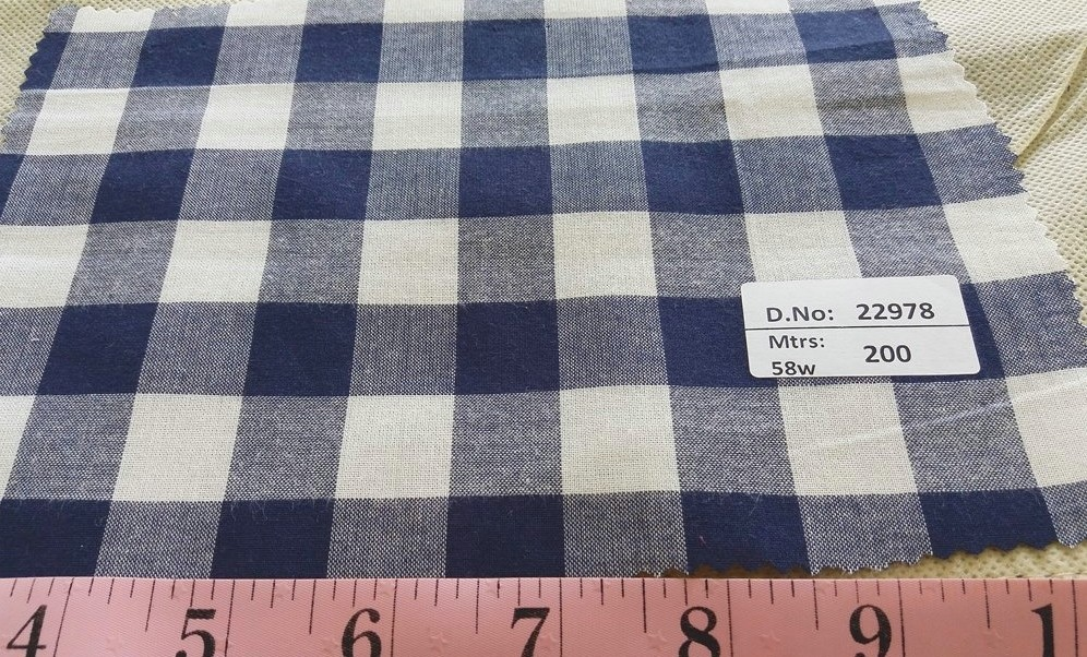 Gingham Fabric or gingham check for classic children's clothing, gingham shirts, plaid dresses, skirts, boys clothing and menswear.