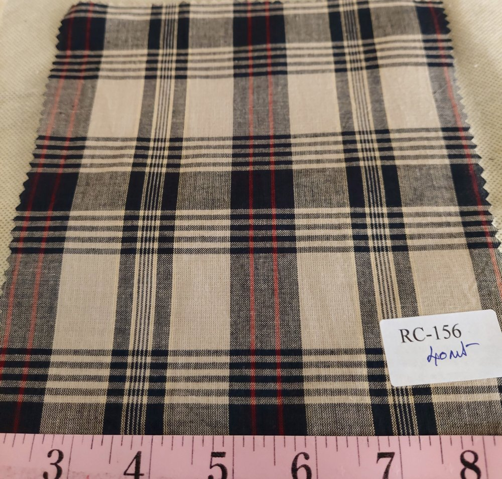 Plaid Fabric or madras plaid is made of cotton. It is a summer preppy fabric, for shirting, menswear, kids clothing and beach wear.